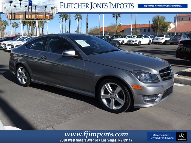 Certified Pre-Owned 2015 Mercedes-Benz C-Class C250 SPORT Rear Wheel Drive Coupe