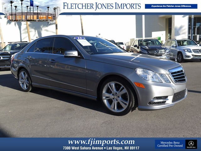 Certified Pre-Owned 2013 Mercedes-Benz E-Class E350 Sport Rear Wheel Drive Sedan